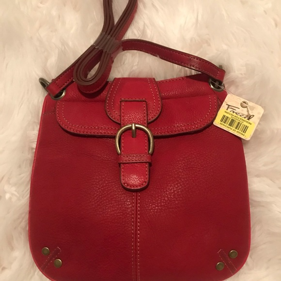 Handbags - Red Fossil Leather purse